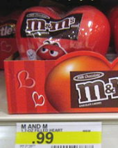 M&M's Filled Valentine Hearts only $.49 at Target