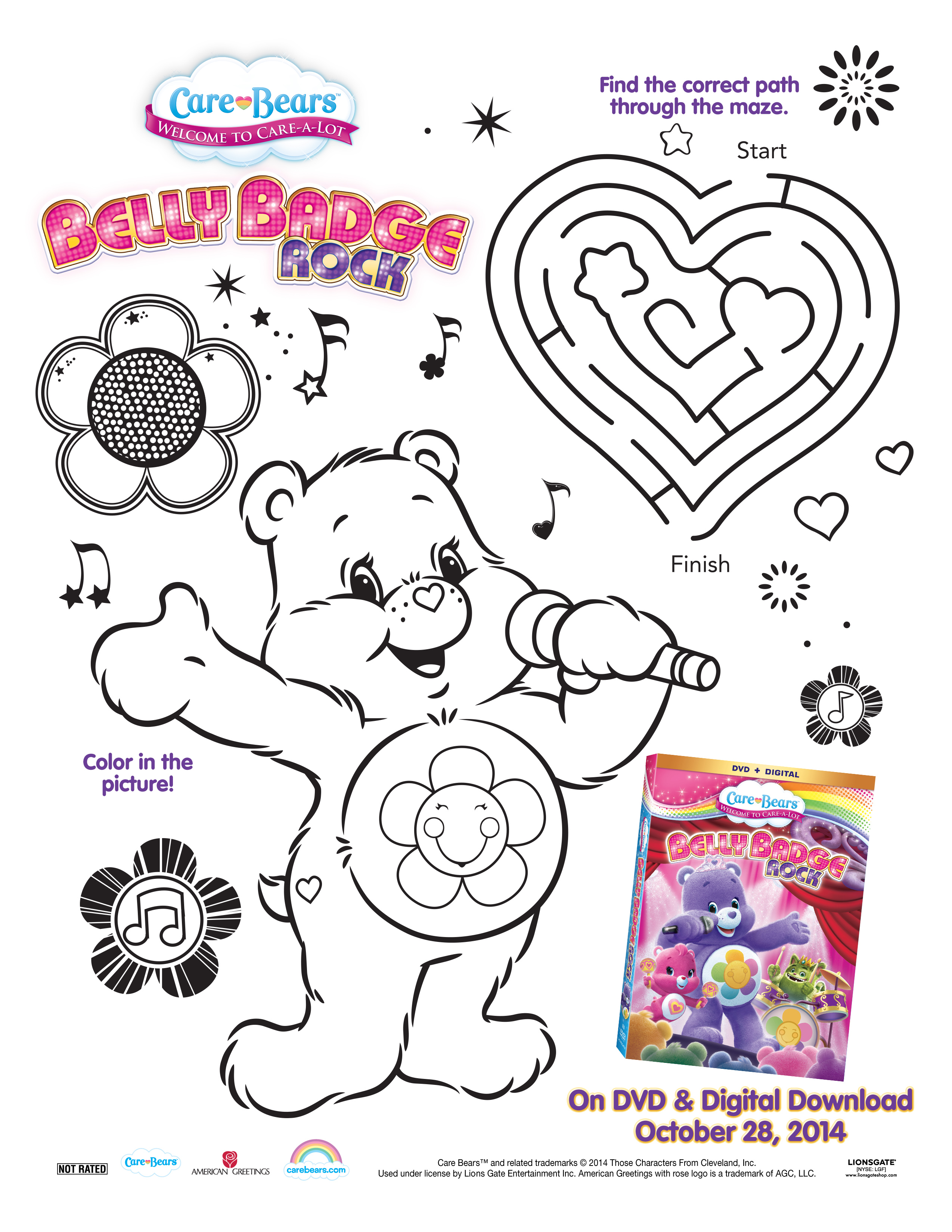 Care Bears Belly Badge Rock Dvd Giveaway