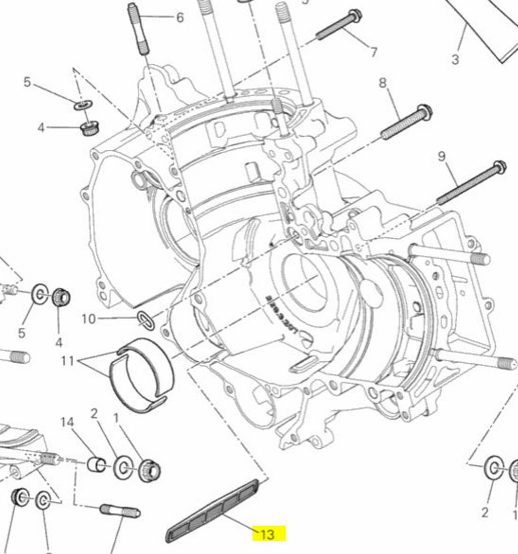 wiring diagram database  ducati oem oil net crankcase filter a all panigale  899