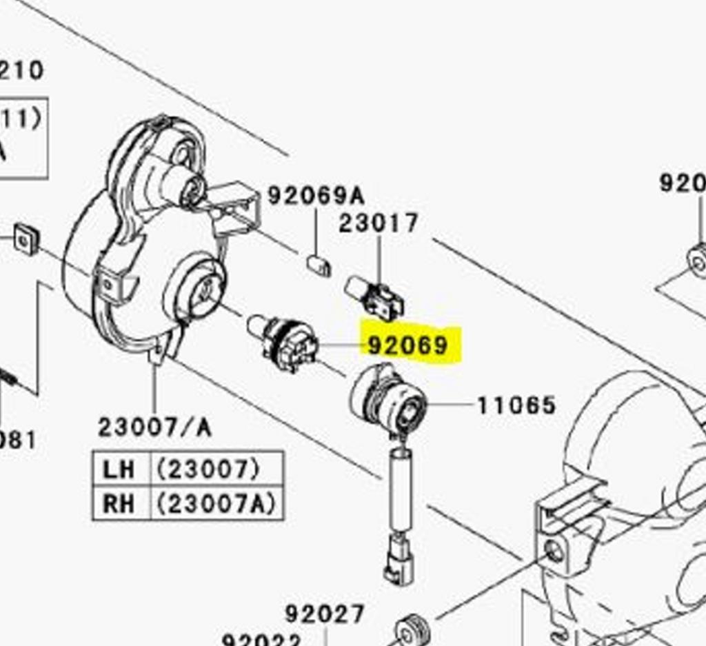 Kawasaki Oem Headlight Replacement Bulb Mule 600 610 06 15