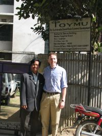 Gabriel the Director of TOYMU with SIL member Paul