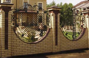 Ажурный кованый забор