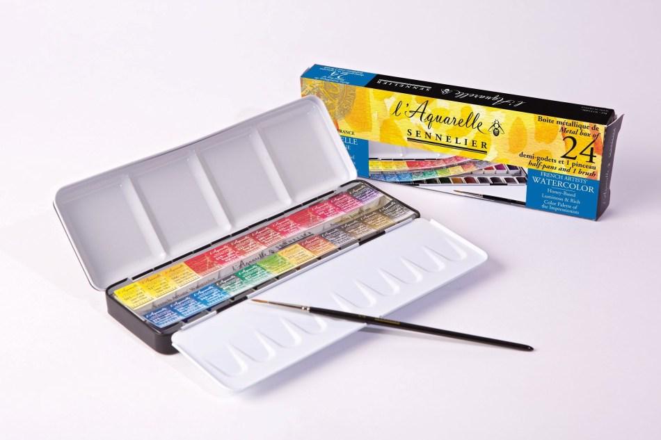 Acuarela Caja de 24 Colores