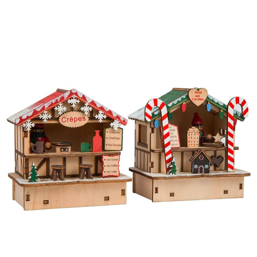 Cabañas del mercado de Navidad Crepes y Dulces
