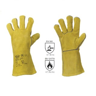 S 53 F svářečské pracovní rukavice z hovězinové štípené usně - foto 1