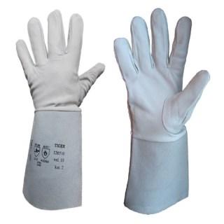 TIGER LUX teploodolné rukavice velikost 10 TOP kvalita kůže - foto 1