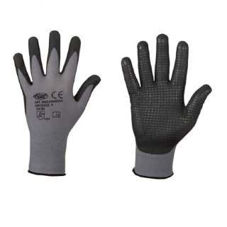 HANDAN bezešvé povrstvené pracovní rukavice - NITRIL - foto 1