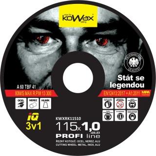 115x1.0x22.2 3v1 Řezný kotouč Kowax KWXRK11510 - foto 1