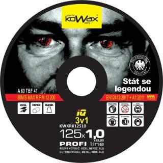 125x1.0x22.2 3v1 Řezný kotouč Kowax KWXRK12510 - foto 1