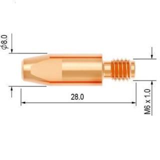 Průvlak AL 1.2 M6 E-Cu pro hliník PARKER - foto 1