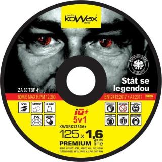 Řezný kotouč Kowax IQ+ 5v1 125 x 1,6 x 22,2 - foto 1