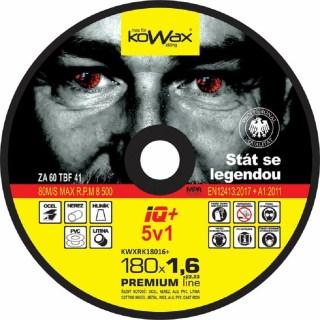 Řezný kotouč Kowax IQ+ 5v1 180 x 1,6 x 22,2 - foto 1