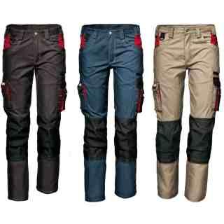 HARRISON šedivé montérkové kalhoty z polyesteru a bavlny - foto 1