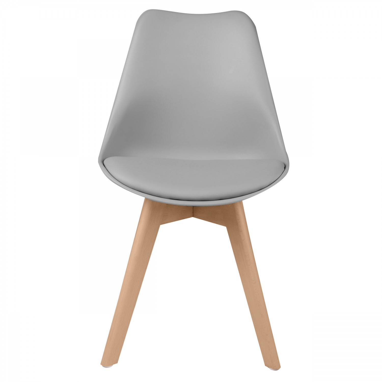 chaise scandinave gris clair lot de 2