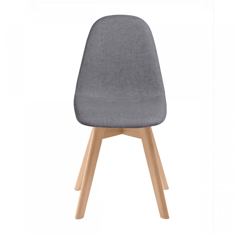 Chaise Scandinave Tissu Grise Lot De 2 Koya Design