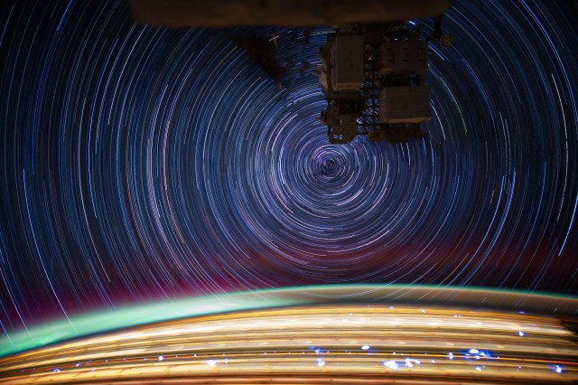 ISS030 star trails created with iss030e271722 thru iss030e271757