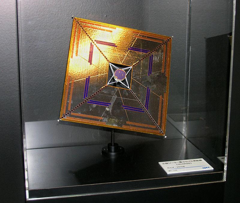 Ikaros'un 64'te 1'i boyutundaki maketi