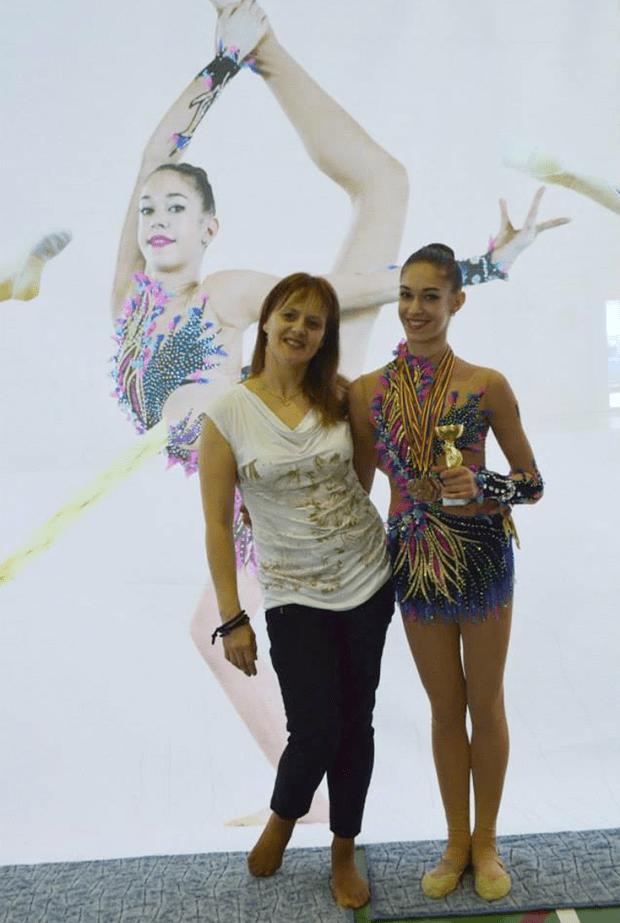 Ádámosi Klementina és edzője, Mihaela Șandor-2