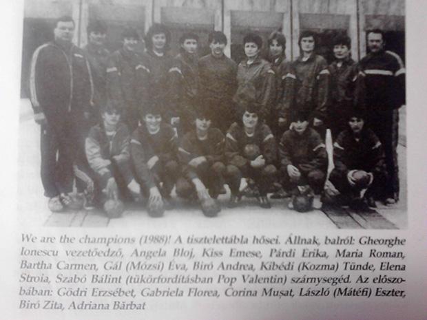 A Mureșul 1988-as bajnokcsapata