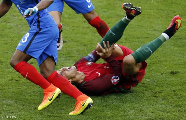 Euro 2016-Poyet gáncsolása után Ronaldó harcképtelen  lett-index.hu