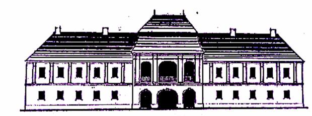 A nagyteremi Bethlen-kastély rekonstruált homlokzata (az Orbán Balázs könyvében lévő metszet alapján készített rajz)