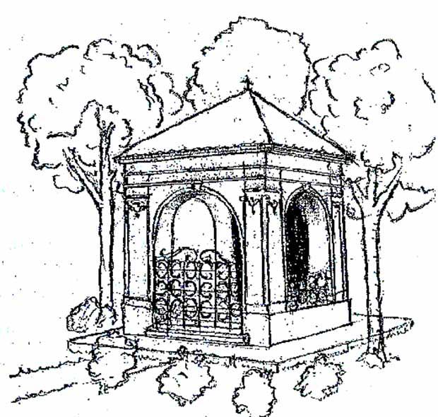 Nepomuki Szent Janos kapolnajanak rekonstrualt raja
