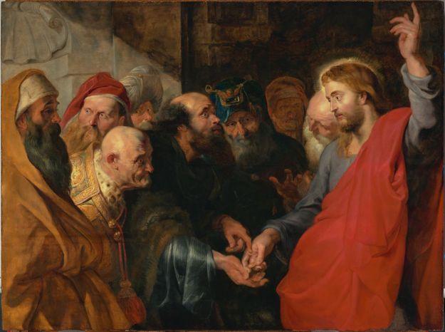 Le tribut à César, Pierre Paul Rubens, 1612