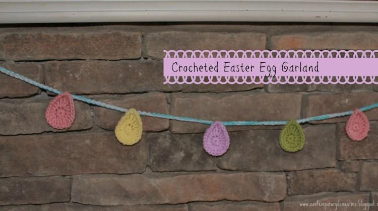 Crocheted Easter Egg Garland