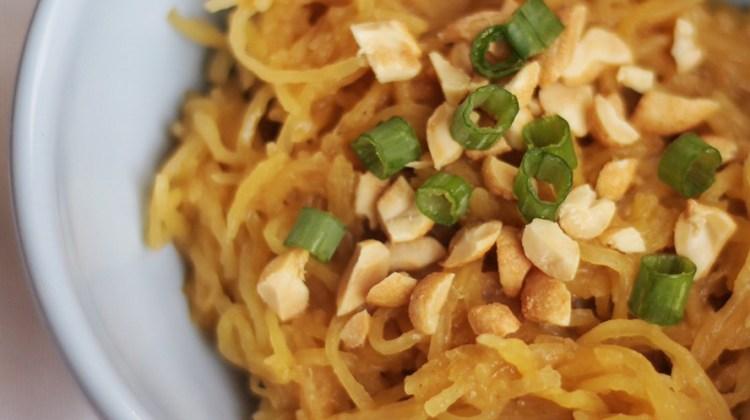 Thai Peanut Spaghetti Squash Noodles