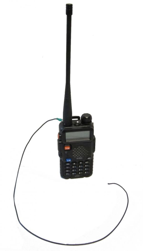uv5x with rat tail - Mejora la ganancia de la antena de tu handy
