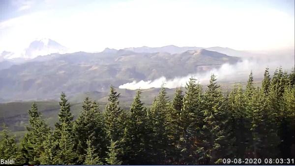 Enumclaw WA HamWAN image Sep 8 2020 - Cámara de red inalámbrica con radioaficionado detecta Washington Wildfire