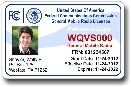 GMRSLicensePhoto - Que es General Mobile Radio Service (GMRS) y todo lo que debes saber