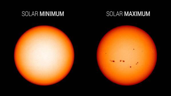 sunspots comparison - La NASA y la NOAA debatirán la predicción del ciclo solar durante la teleconferencia con los medios