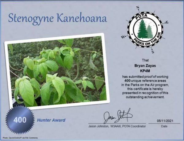 FB IMG 1620993333037 - Felicitamos a Brian KP4M por ser el que tiene el primer lugar en POTA