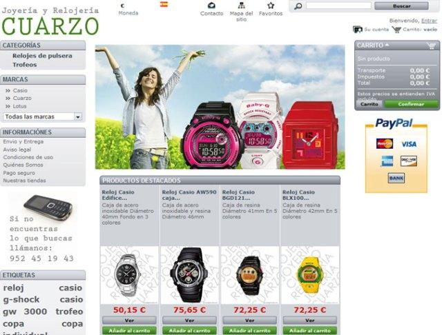tienda online relojería