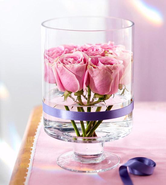 Pink rose centerpiece kp fusion