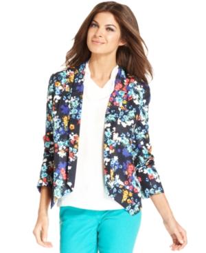 Ellen Tracy Floral Jacket, $89.99