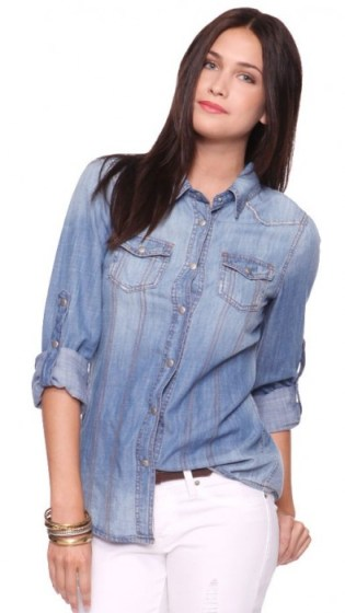 Life-In-Progress-Chambray-SHirt-Forever21_$27.80 - Edited