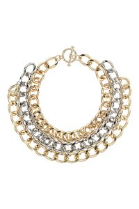 Topshop Three Row Chunky Chain Necklace, $35