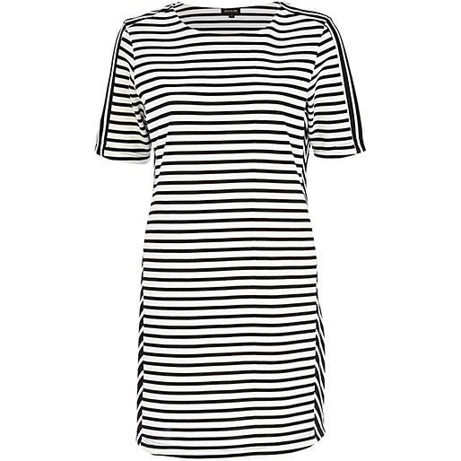 River Island Black and White Stripe T-Shirt Dress, $30