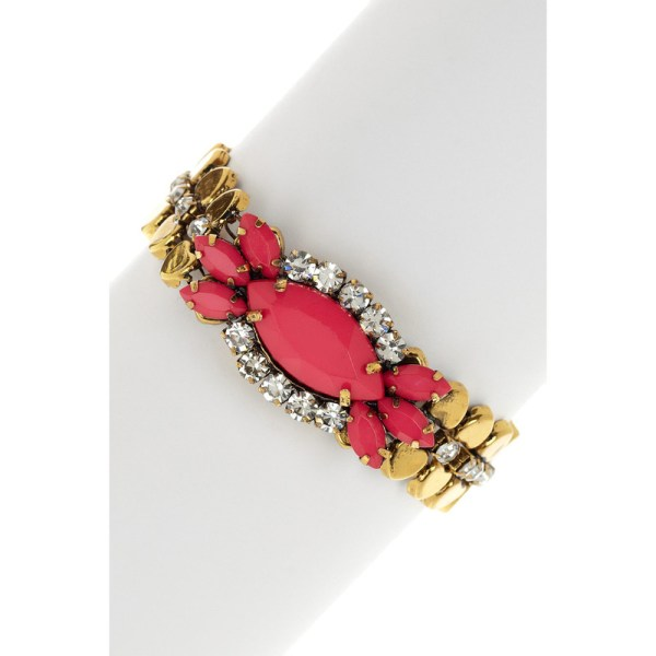 Pink Pendant Chain Bracelet, $26