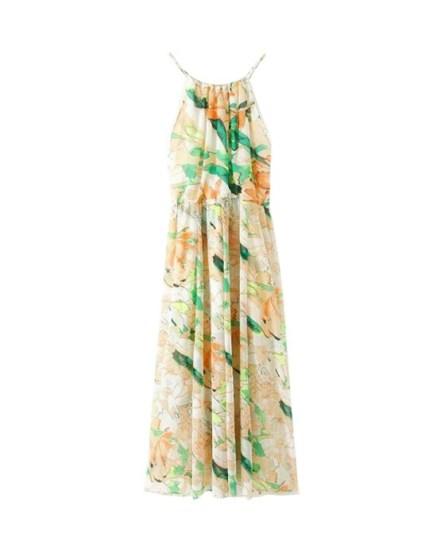 Flower Print Long Chiffon Cami Dress, Chicnova, $53