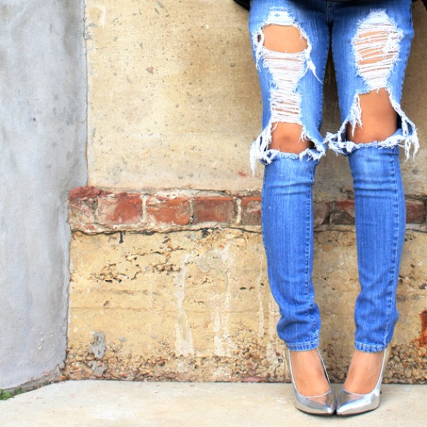 Dressing Up Distressed denim-KPFUSION