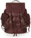 Topshop GRAINY FAUX LEATHER POCKET BACKPACK $68