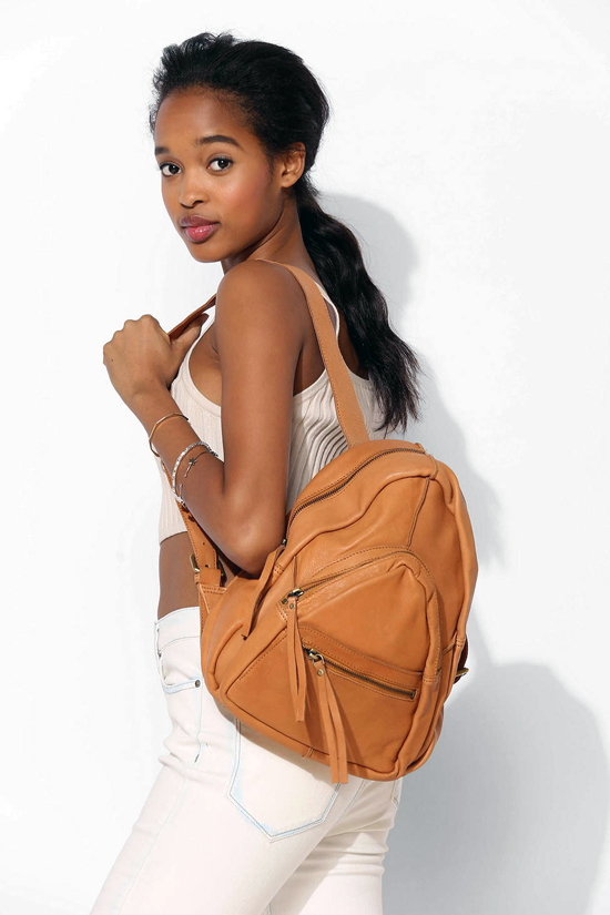 Urban Outfitter Leather Fleur Triangle Backpack $180