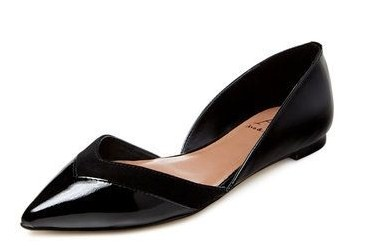 Ava & Aiden Amali Pointed-Toe D'Orsay Flat GILT$89