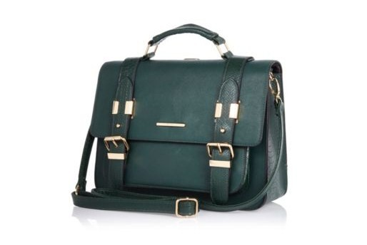 Dark Green Large Satchel, River Island, $60