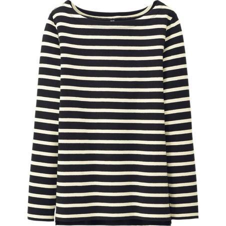 Uniqlo-Women-Striped-Boatneck-Long-Sleeve-Tee-$15