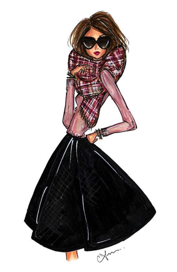 Anum Tariq Plaid Scarf Illustration