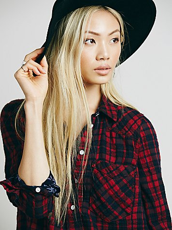 Free People Woodman Plaid Shirt $98